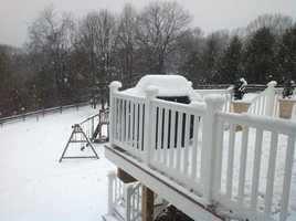 Snow in Parkton in northern Baltimore County.