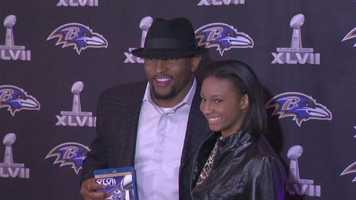 Ray Lewis is all smiles.