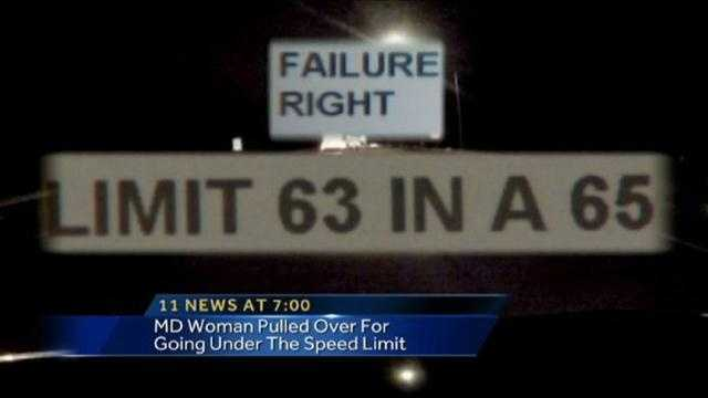 2 mph speed limit ticket