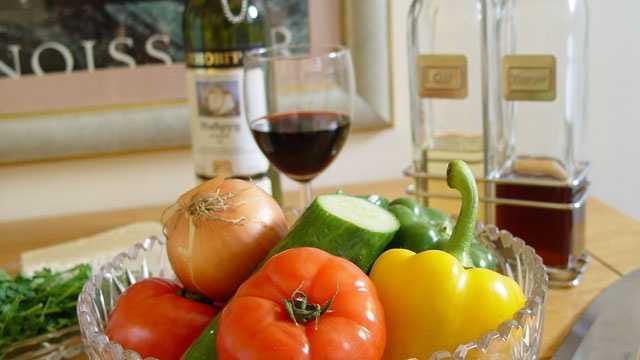 Wine vinegar vegetables