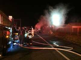 Joey Kasura of the Chestnut Ridge Volunteer Fire Company took these photos of the incident.