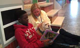 Gabby listens to the children read aloud. Kaiser-Mohondro said it's a process that can bring something to the students that people can't. Read the story.