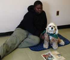 Gabby can also help calm the kids down when they're upset by offering them silent companionship. Read the story.