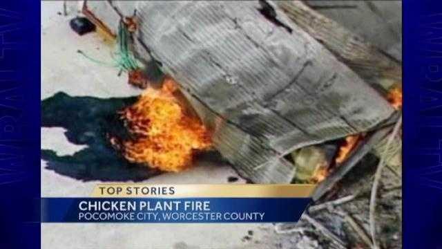 Pocomoke City chicken coop fire