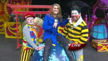 Ava Marie visits the Ringling Brothers Barnum and Bailey Circus on Wednesday morning to check out some of the sights!