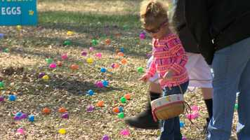 The annual Bunny BonanZoo let kids collect Easter eggs and redeem them for candy and chocolates.