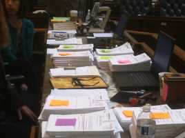 April 3: The House takes up stacks and stacks of amendments proposed to the gun control legislation before voting on it.