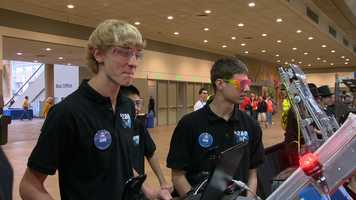 """You have six weeks to build this robot, and you put so much hard work and effort into it, and then it just all comes together here,"" explained Beach Bots teammate Austin Kosin.  Read the story here."