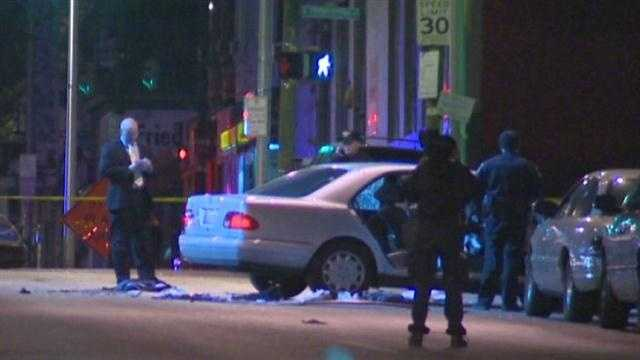 Police: People in car were firing shots&#x3B; Officers fired back