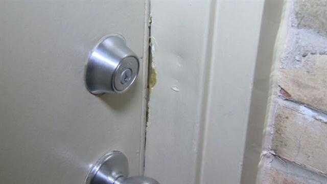 Burglar punched holes through walls