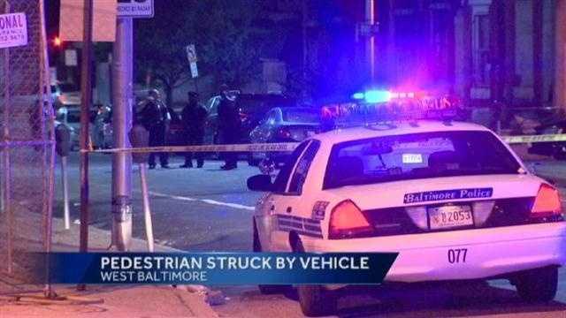 pedestrian crash scene