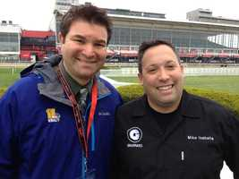 WBAL-TV 11 News reporter Lowell Melser with Mike Isabella from Top Chef