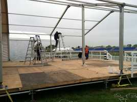 Preparations are under way for the 138th Preakness, which takes place May 18 at the Pimlico Race Course in Baltimore.