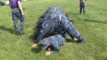 The daylong exercise began with a 2:30 a.m. wake-up, followed by an hour of physical training.