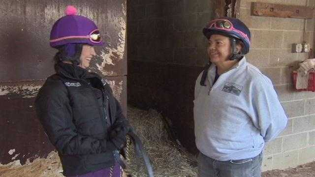 A female jockey who began her career in Maryland is hoping to become the first woman to win the Preakness, and two women who pioneered her ability to be involved will be there to cheer her on.