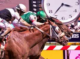 Flattering Bea narrowly misses edging out I'm Mom's Favorite in Ms. Preakness Pink Warrior Stakes