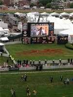 A half hour before the Preakness.