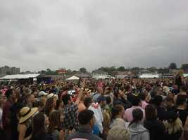 The Pitbull concert crowd at the infield at Preakness.