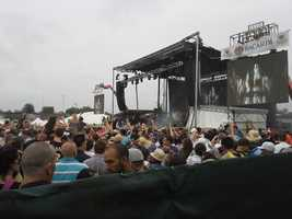The Pitbull concert at the infield at Preakness.