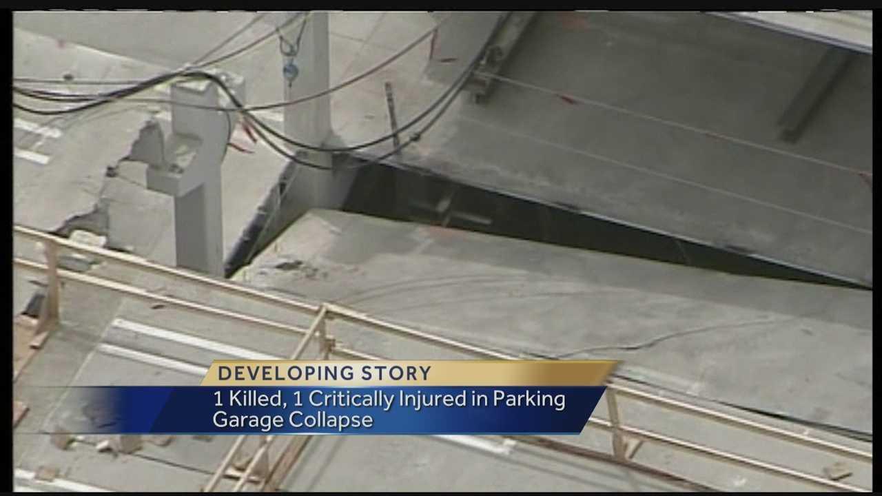parking garage partial collapse