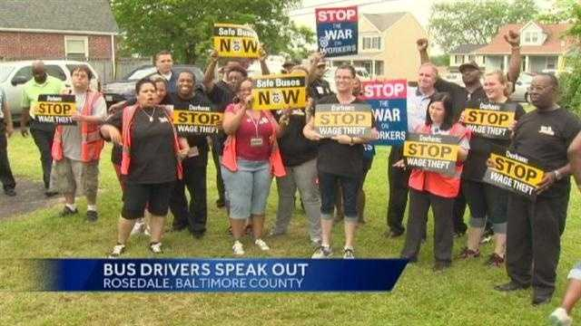 School bus driver protest