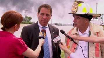 Fire officials and Baltimore County Executive Kevin Kamenetz give reporters updates during the first few hours after the incident.