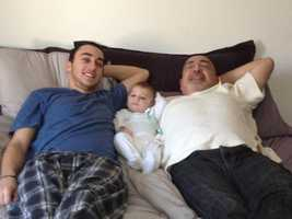 Gilad with his father and nephew