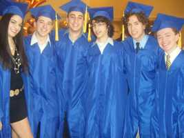 Gilad (third in from left) at his high school graduation.