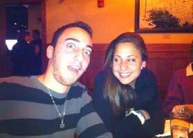 Goofing around with his sister, Eliel.