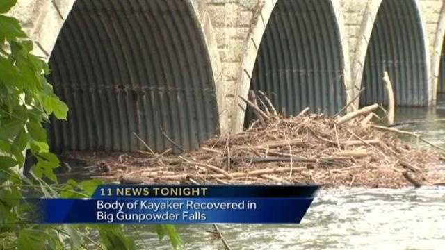 missing kayaker debris pile