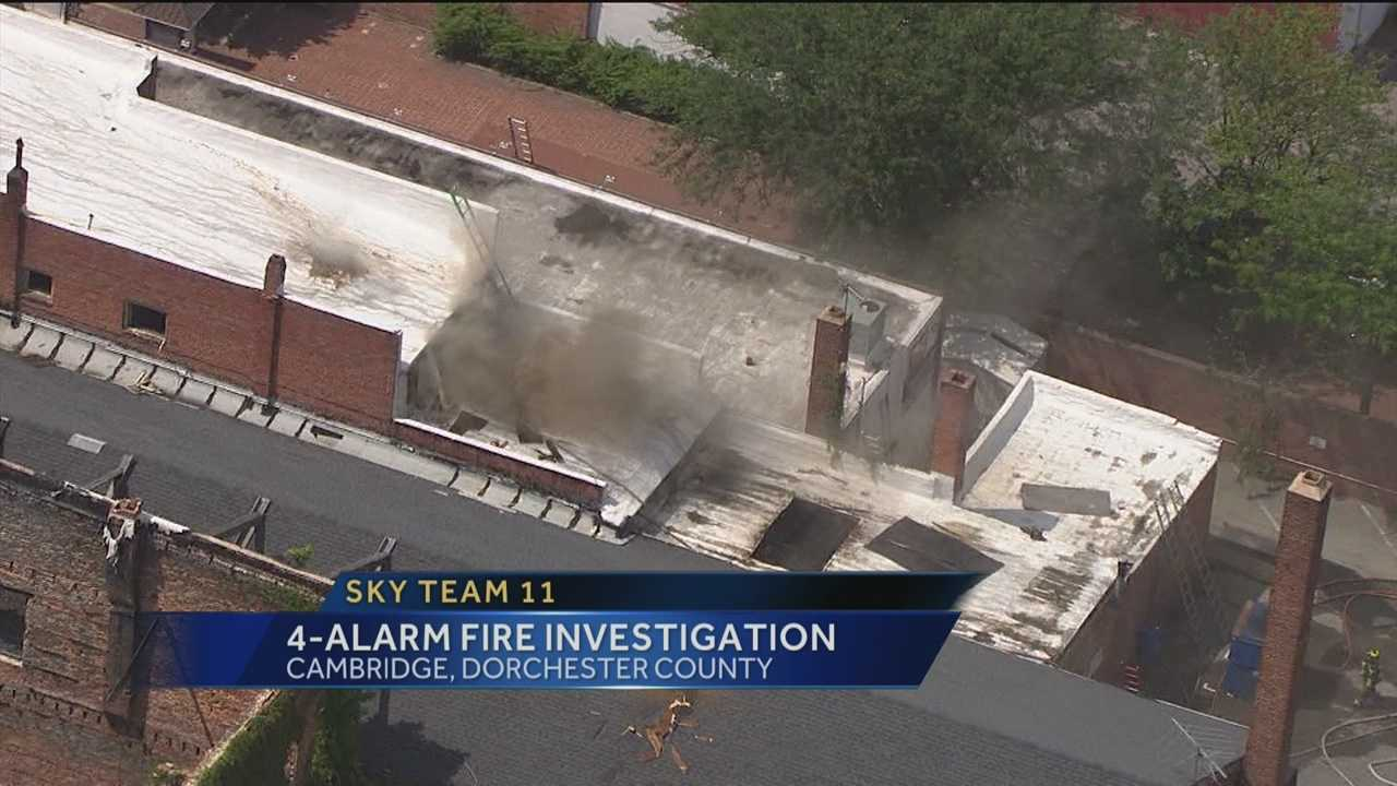 Salvation Army fire aerial
