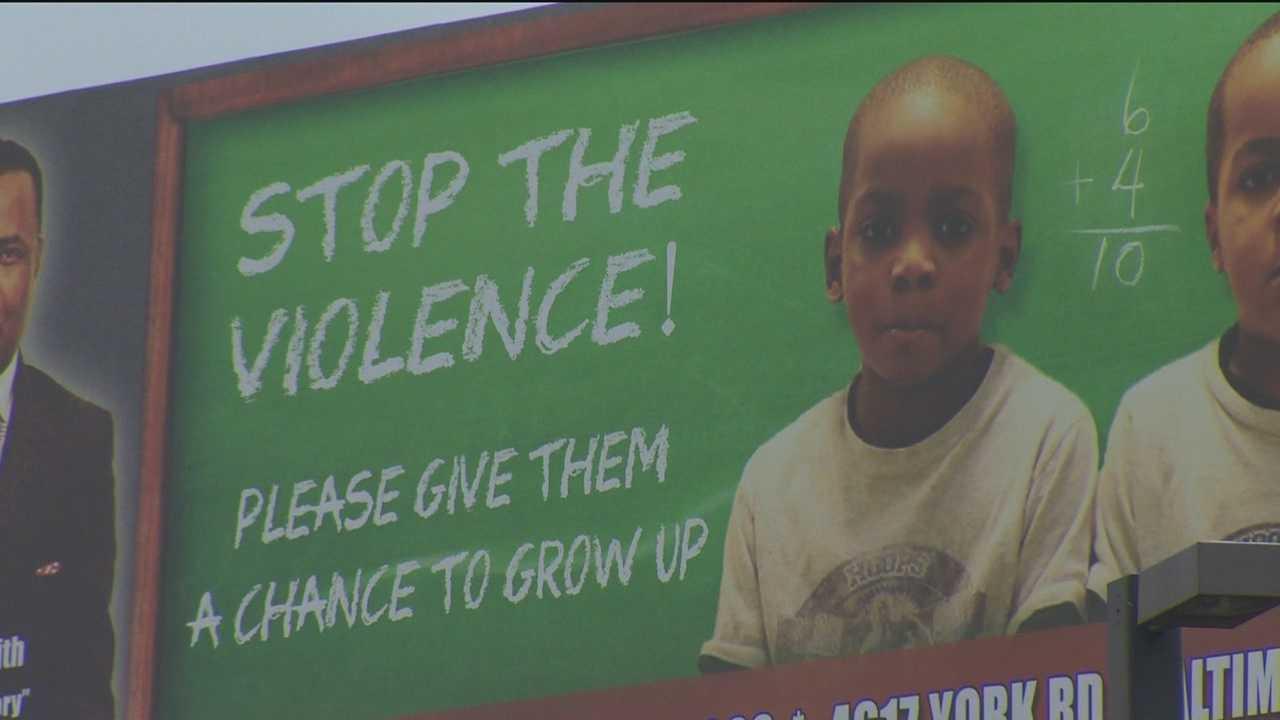 Billboards address Baltimore's violent crime