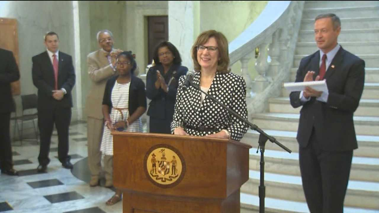 Gov. O'Malley appoints 1st female chief judge