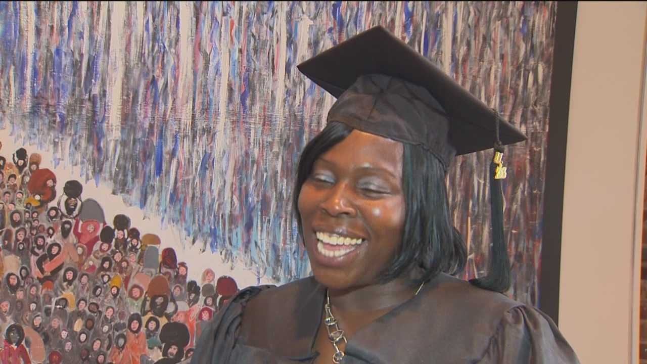 Mother earns diploma that her son couldn't
