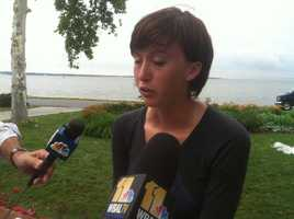 The girlfriend of 19-year-old John Conner Benson said he and 23-year-old Alex Steele were victims of near-lightning strike Wednesday night on a beach on Severn River.