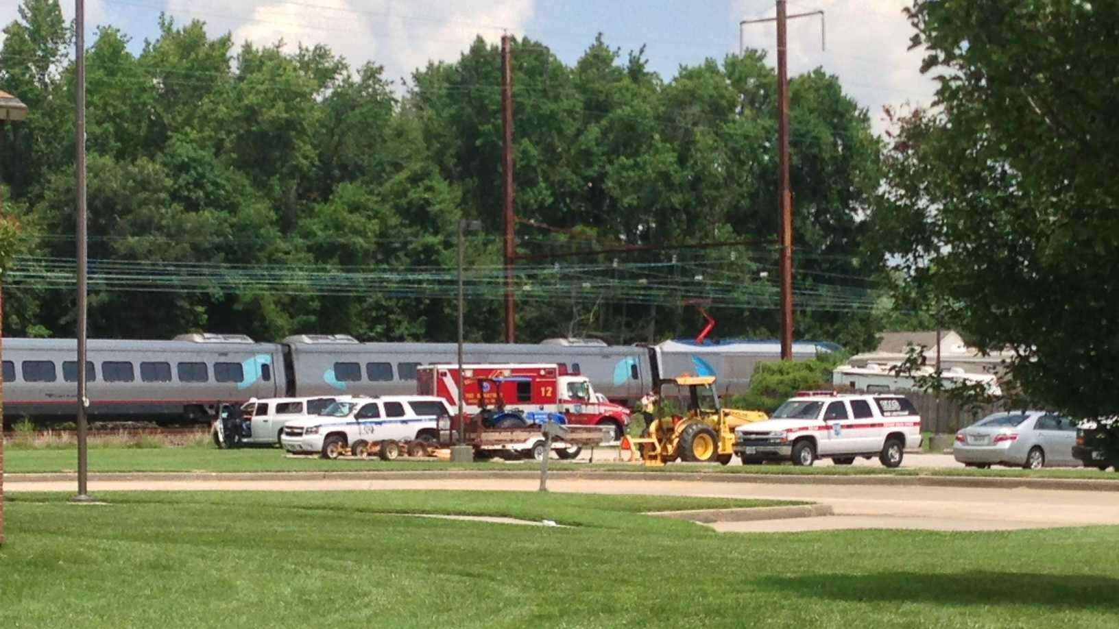 Middle River train crash scene