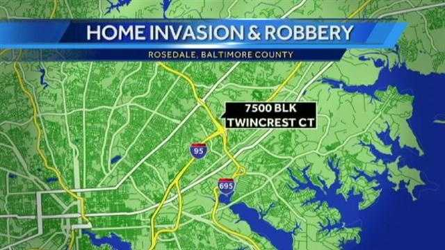 Rosedale home invasion map