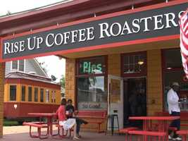 Amara started her trip by stopping for a cup of coffee atRise Up Coffee Roasters in Easton. Read the story.
