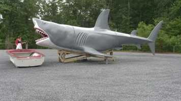 """Amara stresses the first pit stop on her tour is one you shouldn't take on the way to the ocean -- it's a massive landmark depicting the fictional shark from the movie """"Jaws."""""""