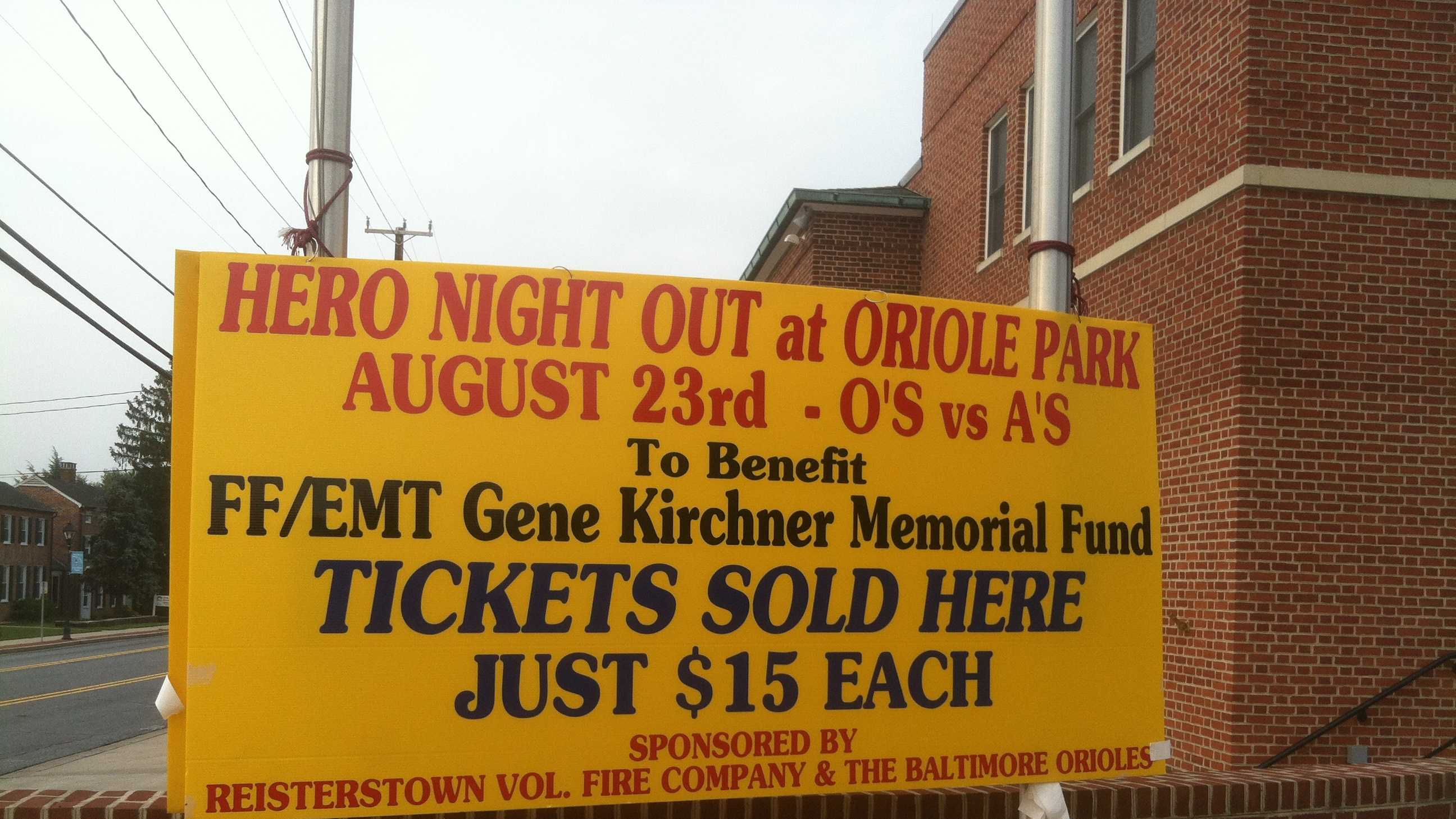 Hero Night Out sign