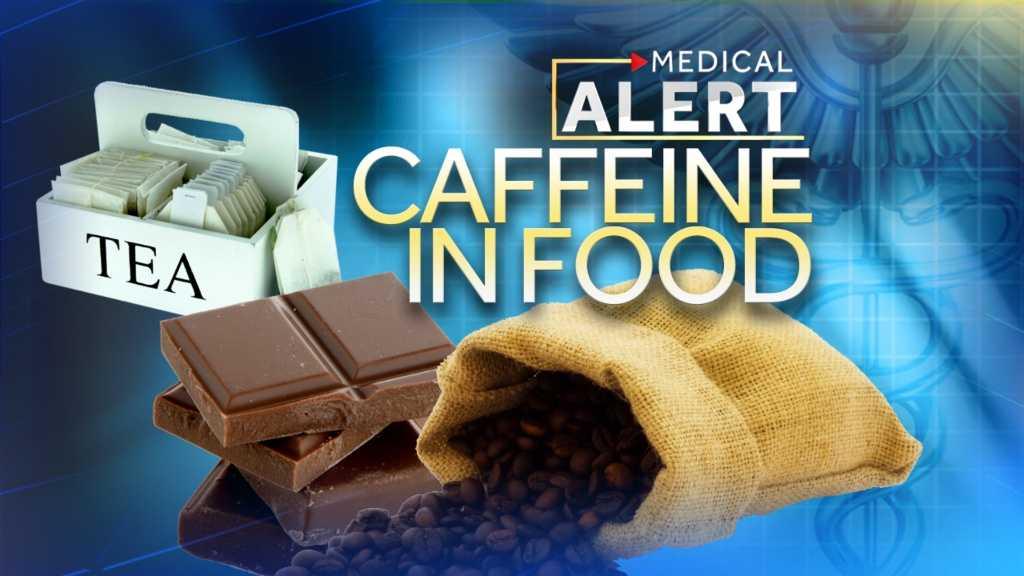 caffeine in food
