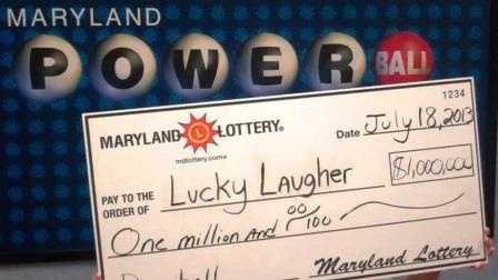 Laughing Lottery winner