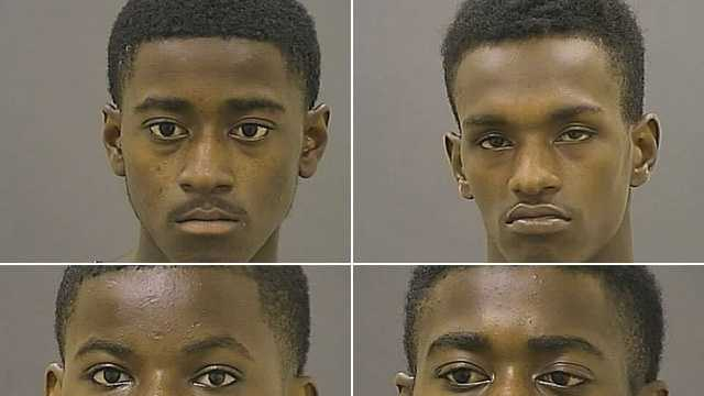 collage of four arrested in Little Italy assault