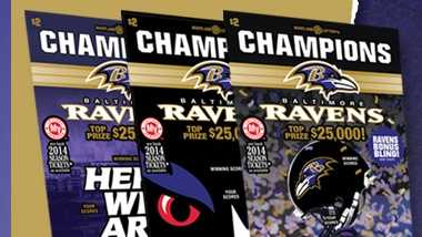 New Ravens Champions scratch-off tickets