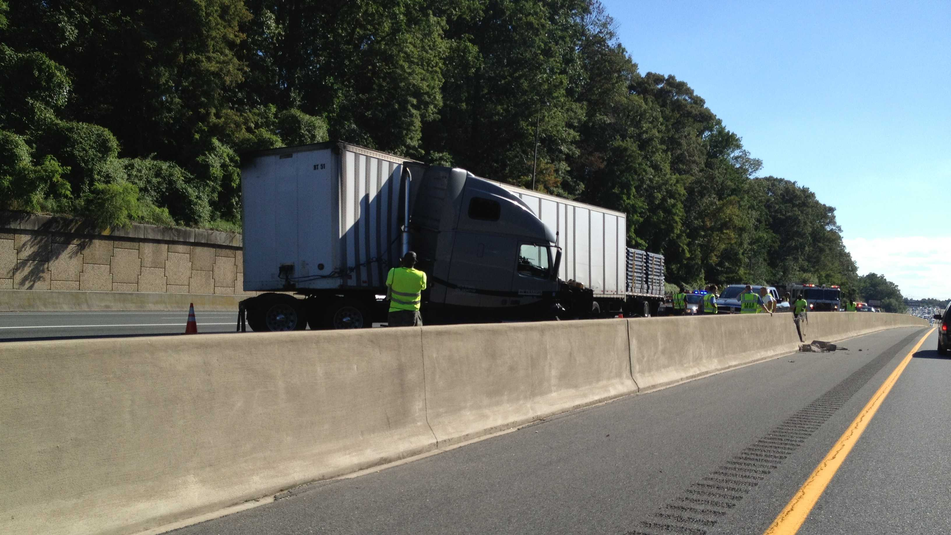 tractor-trailer crash on Route 50