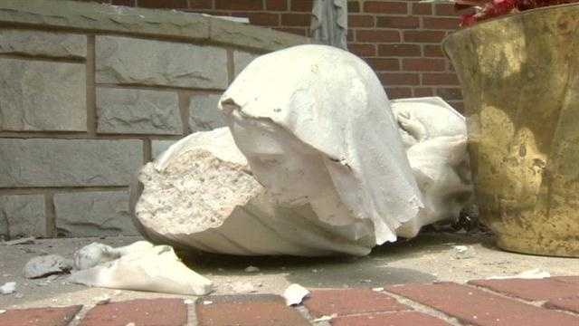 Vandals damage Virgin Mary statues