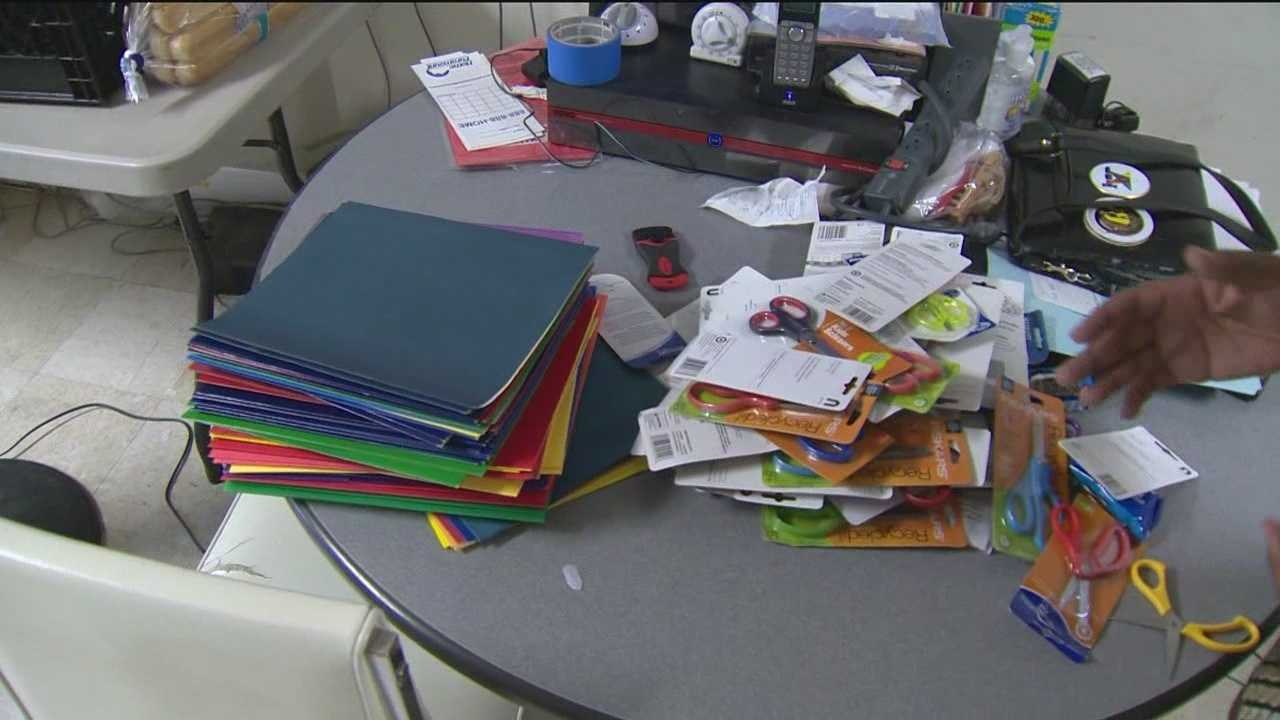 Homeless students getting help with school supplies