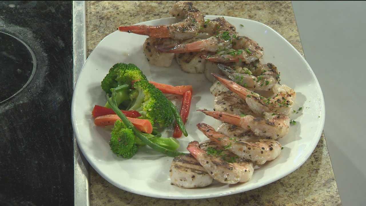 Sunday Brunch Shrimp and Scallop Skewers