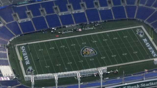 M&T Bank Stadium- closeup of field