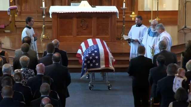 casket in church